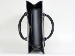 745B 大型天フタ・サイドポケット付き手提げバッグ(色革付属使用)(底鋲付き)